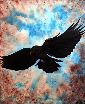 Free Bird Art Print by Oddball Art Co by Lizzy Love