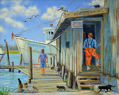 Art Print featuring the painting Free Cats Ll by Dwain Ray