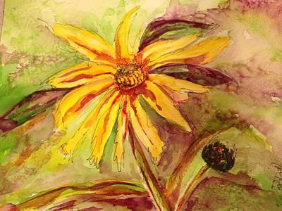Painting - Free Daisy  by Bobbin