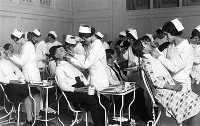 Commercial Photograph - Free Dental Help For Children by Underwood Archives