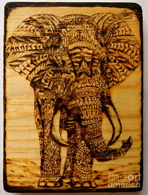 Pyrography On Wood Pyrography - Free Expression by William Waters