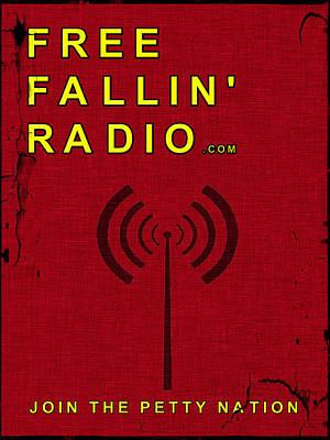 Digital Art - Free Fallin' Radio Retro by Tom DiFrancesca