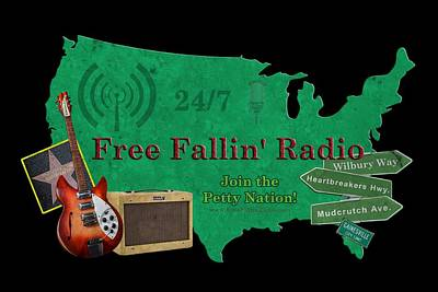 Digital Art - Free Fallin' Radio by Tom DiFrancesca