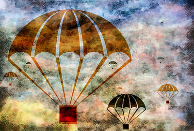 Above Mixed Media - Free Falling by Angelina Vick