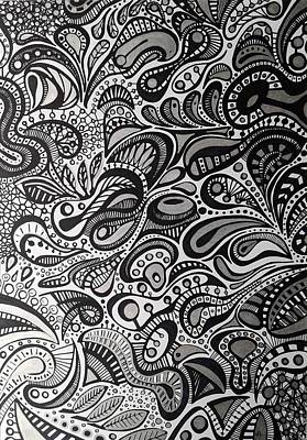 Free Form Drawing - Free Forms II by Ana  Silva