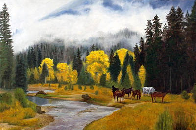 Art Print featuring the painting Free Grazers by Rick Fitzsimons