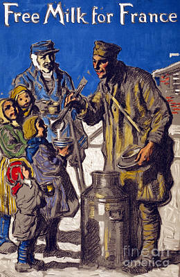 1910s Painting - Free Milk For France by Francis Luis Mora