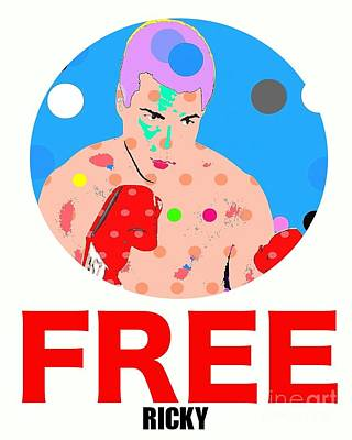 Free Ricky Art Print by Ricky Sencion