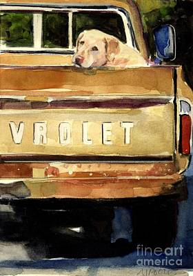 Vintage Truck Painting - Free Ride by Molly Poole