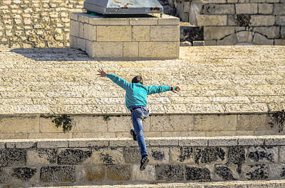 Photograph - Free Running In Jerusalem by Alan Marlowe