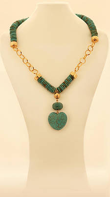 Free Shipping A Combination Of Turquoise Necklace And Gold Chain Original