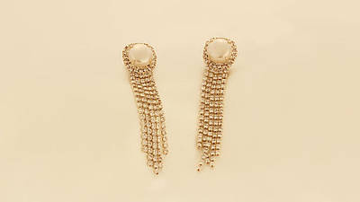 Free Shipping Chain Silver Earrings And Pearl Original