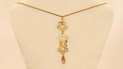 Free Shipping Gold Flower Necklace Original