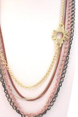 Free Shipping Idit Stern Chained Flower Necklace Original