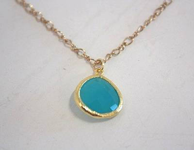 Free Shipping Idit Stern Turquoise Crystal Necklace Original