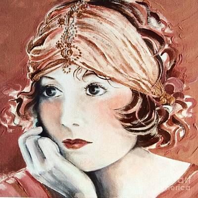 Tendrils Painting - Free Spirit by Barbara Chase