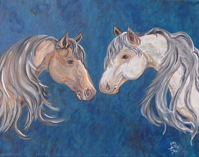 Art Print featuring the painting Free Spirits by Ella Kaye Dickey