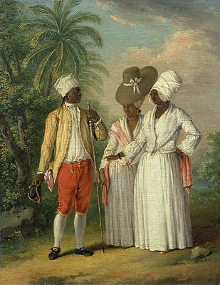 Free West Indian Dominicans, Agostino Brunias Art Print