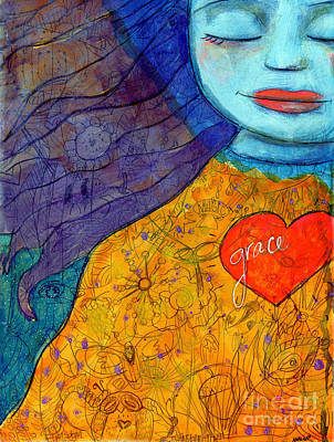 Mixed Media - Free Your Mind And Grace Will Follow by AnaLisa Rutstein