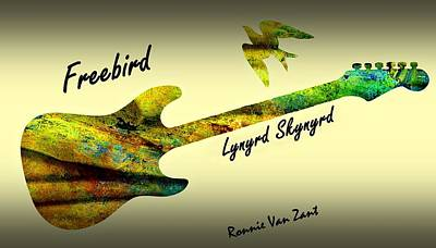 Freebird Lynyrd Skynyrd Ronnie Van Zant Art Print by David Dehner