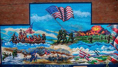 Photograph - Freedom Battles Mural by Gene Sherrill