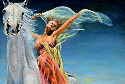 Painting - Freedom-beauty Adorns Virtue by Maxx Phoenixx