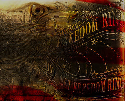 Freedom Bell Print by Portrait Cy