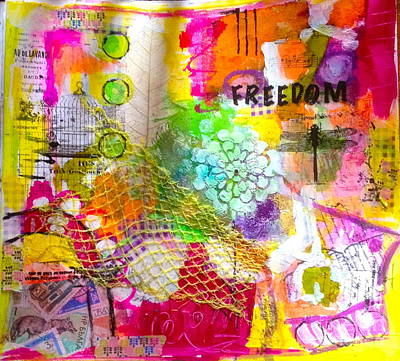 Mixed Media - Freedom  by Corina  Stupu Thomas