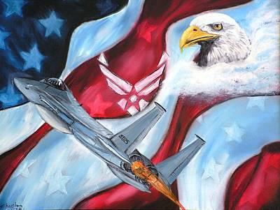 Freedom Eagles Print by Dan Harshman