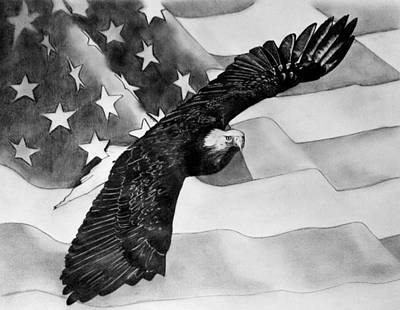 Soaring Drawing - Freedom by Erin Filan