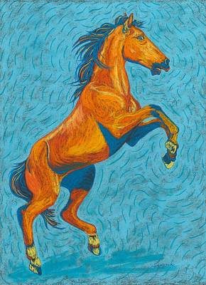 Horse Art Pastels Painting - Freedom Fighter by Cynthia Sampson