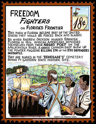 Freedom Fighters On Florida's Frontier Print by Warren Clark