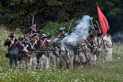 Revolutionary Wars Re-enactment Photograph - Freedom Fighters by William Coffey