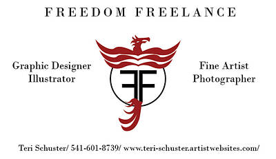Digital Art - Freedom Freelance Business Card by Teri Schuster