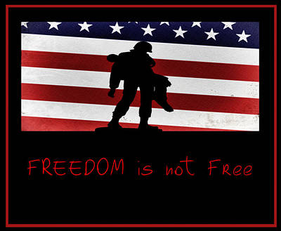 Freedom Is Not Free Art Print by Bill Cannon