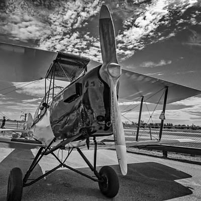 Triplane Photograph - Freedom Machine Monochrome by Steve Harrington