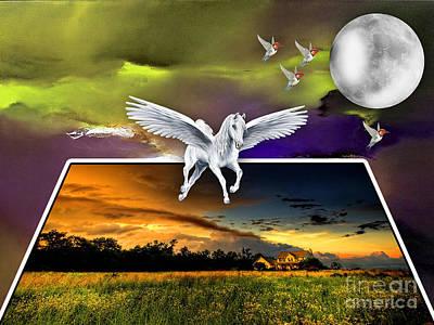 Pegasus Mixed Media - Freedom by Marvin Blaine