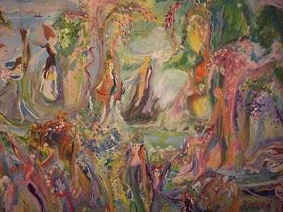 Nurturer Painting - Freedom Of Being by Judith Desrosiers