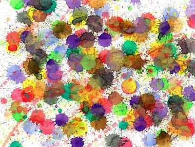 Game Lights Drawing - Freedom Of Colors by Nikunj Vasoya