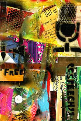 Jacob Lawrence Mixed Media - Freedom Of Speech 10 by Everett Spruill