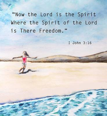 John 3.16 Painting - Freedom Of Spirit by Mary Fanning