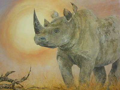 Painting - Freedom Of The Rhino - Show Me The Way by Paula Wiegmink