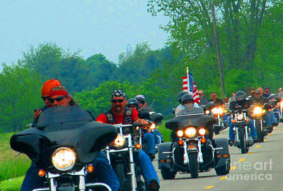 Freedom Riders Having So Much Fun Art Print by Tina M Wenger