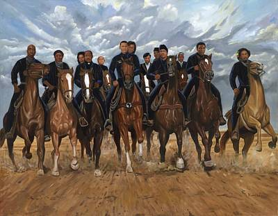 Newton Painting - Freedom Riders by Kolongi Brathwaite