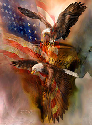 Eagle Mixed Media - Freedom Ridge by Carol Cavalaris