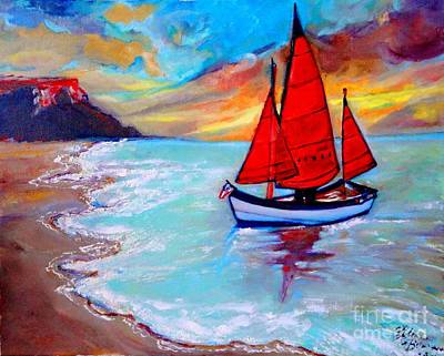 Painting - Freedom Sails by Helena Bebirian