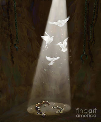 Prophetic Art Wall Art - Painting - Freedom by Tamer and Cindy Elsharouni