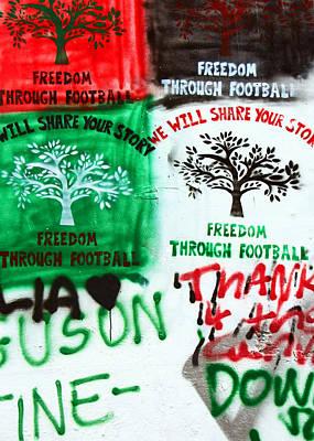 Separation Drawing - Freedom Through Football by Munir Alawi