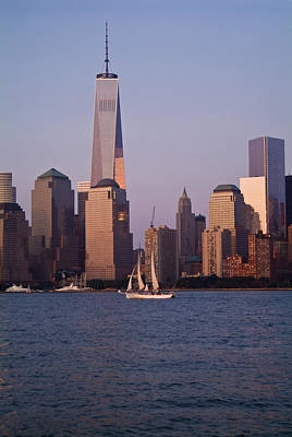 Photograph - Sailing Past 1 World Trade Center by Michael Dorn