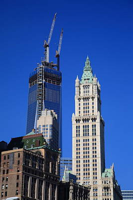 Photograph - Freedom Tower And Woolworth Building by Frank Romeo